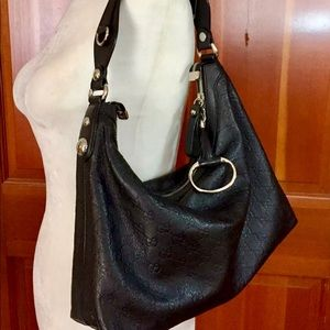 1666e754e Gucci. Gucci Black Guccissima Icon Bit Hobo handbag